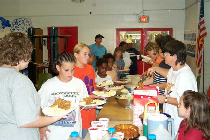 Serving Lunch! Sept. 9, 2000